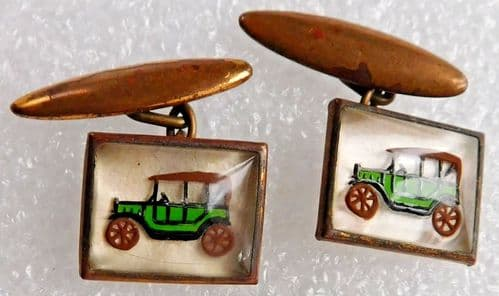 Vintage cufflinks Classic car design Chain fittings 1930s 1950s